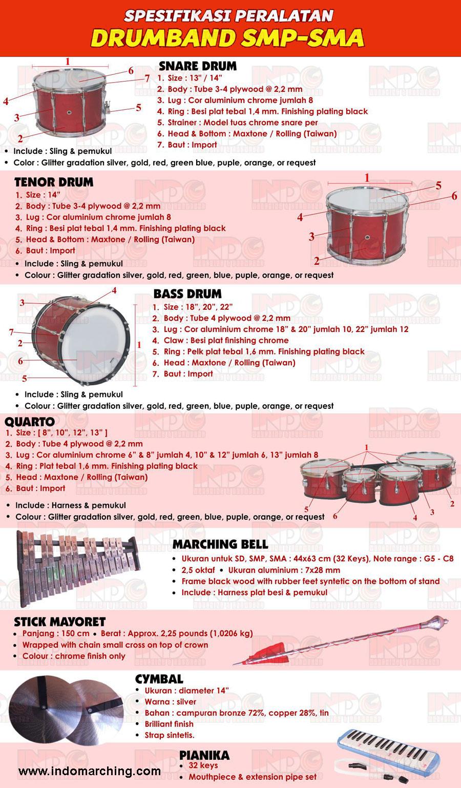 Alat Drumband SMP SMA