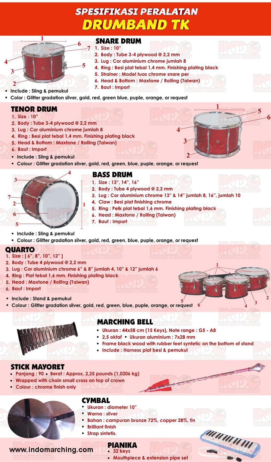 Alat Drumband TK